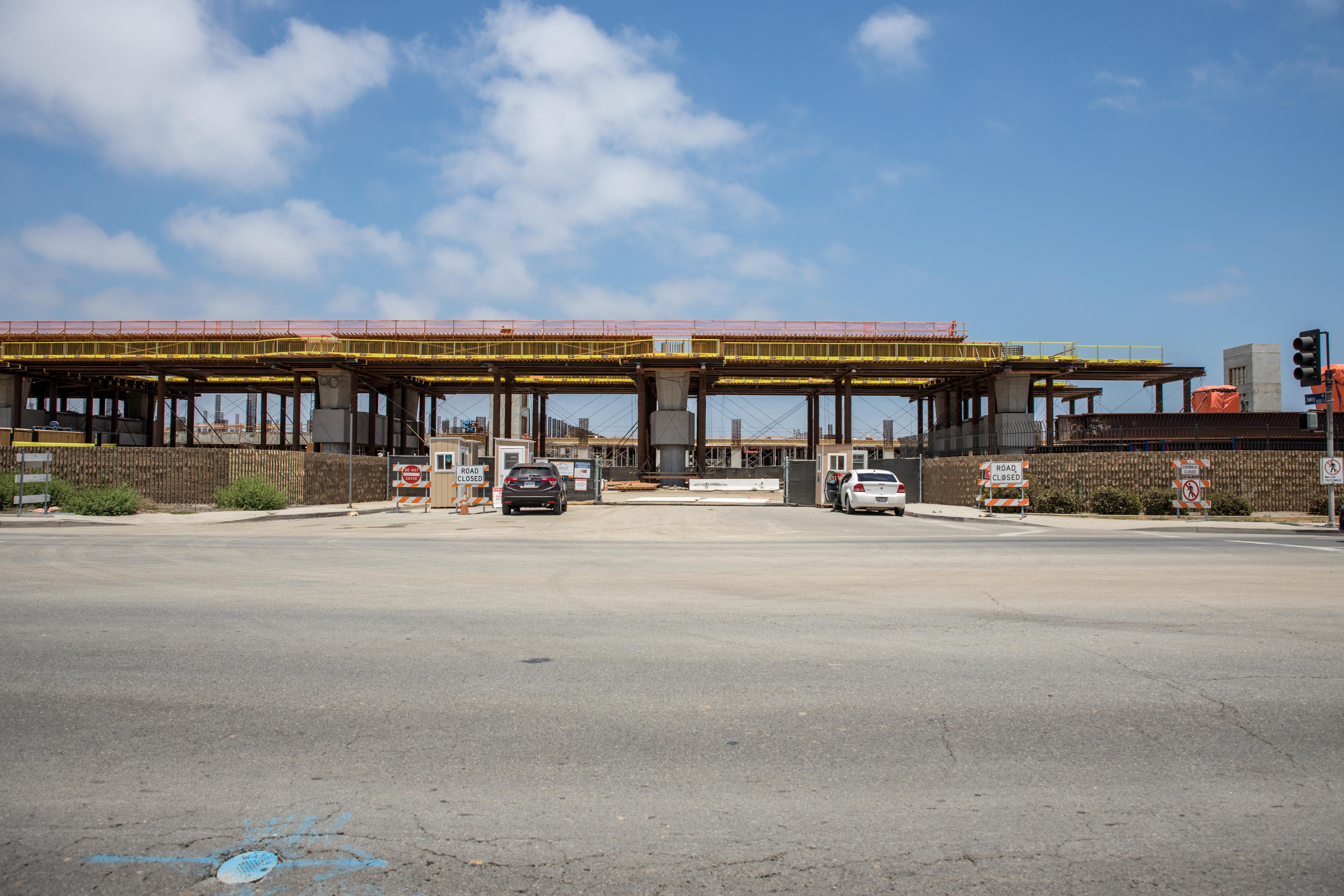 Once the guideway is complete at the future ITF-West station, station construction can begin.