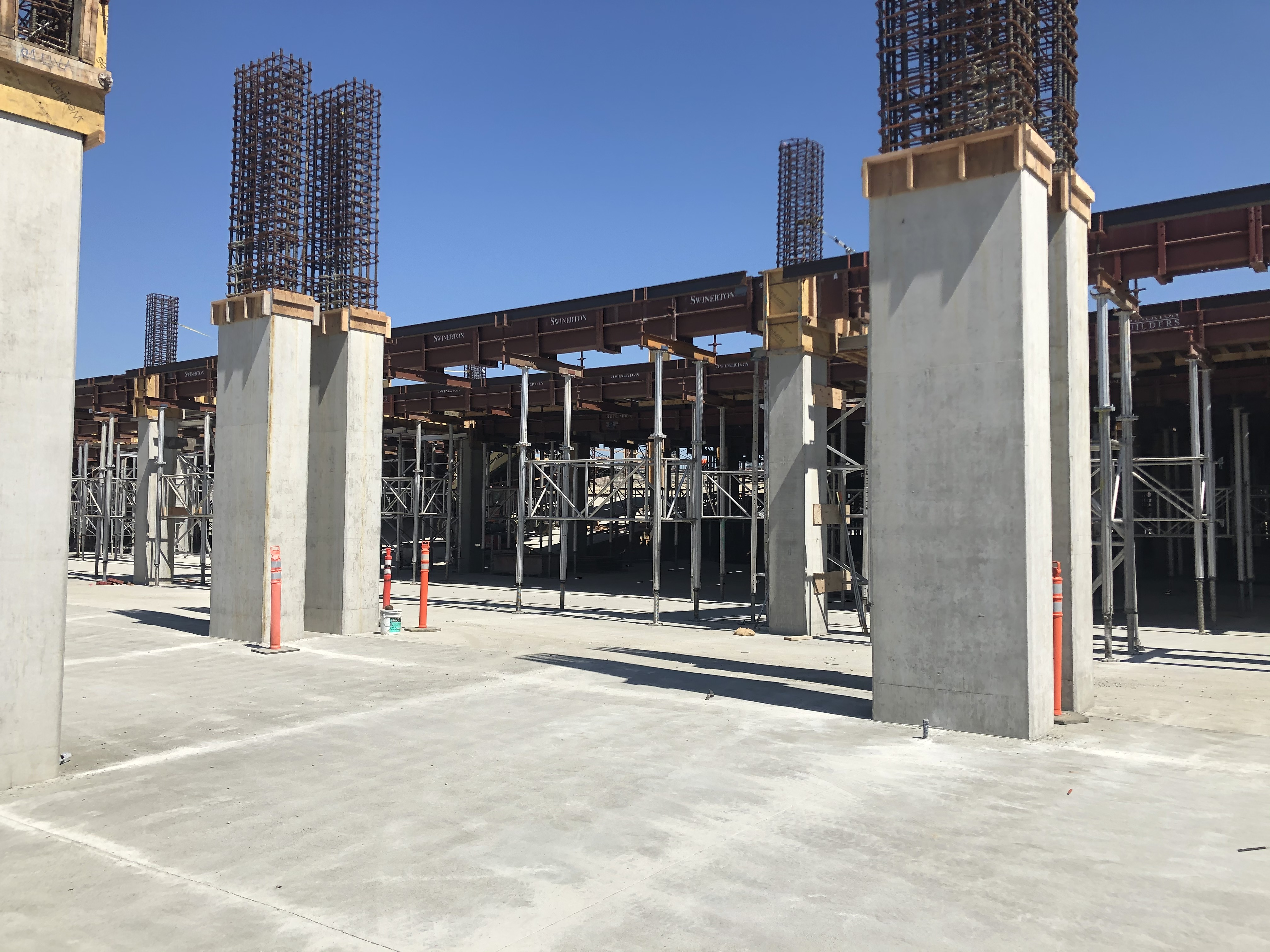 A view of the first and second level of the Intermodal Transportation Facility-West.