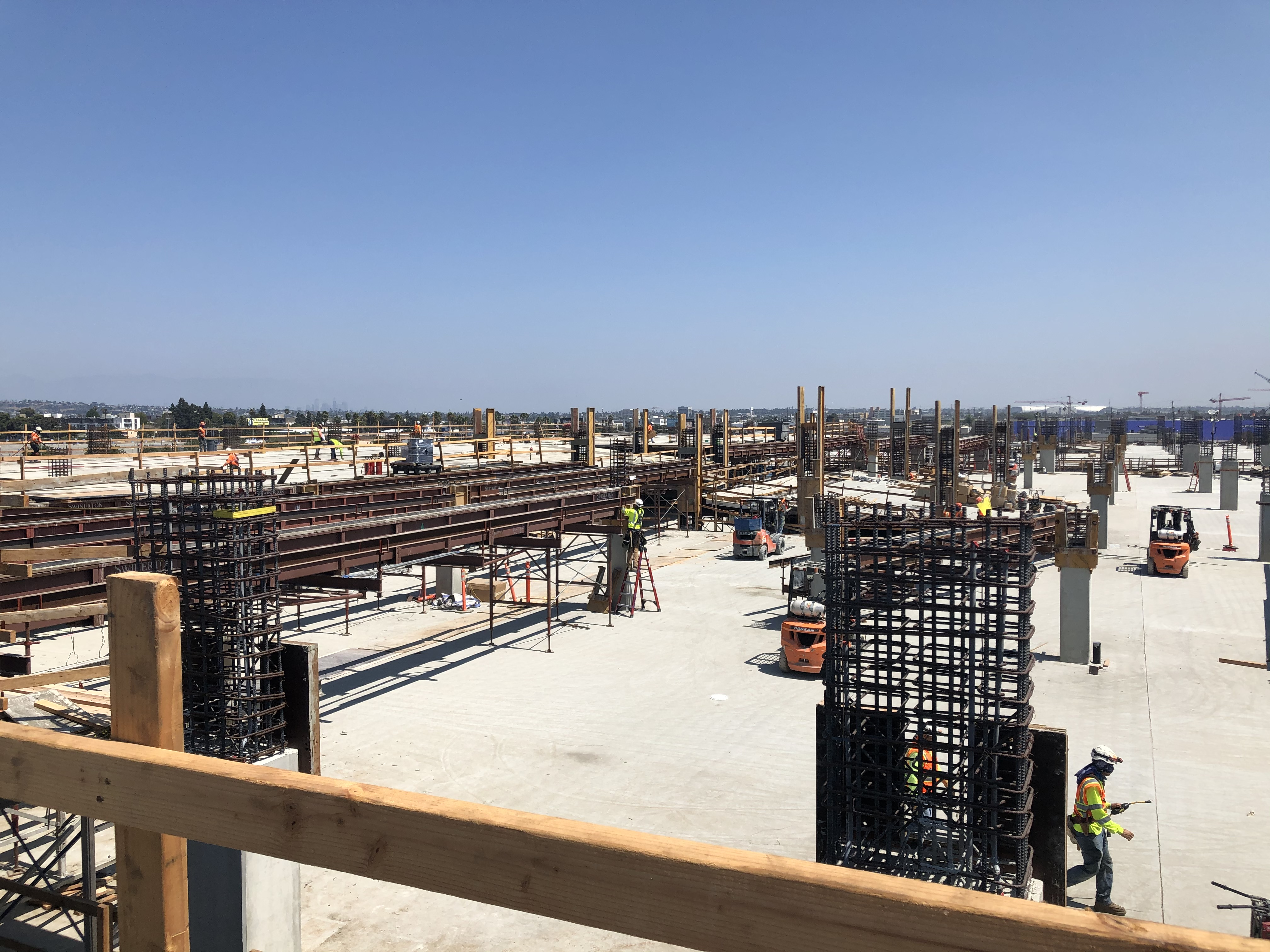 Work continues on the third and fourth level of the Intermodal Transportation Facility-West.