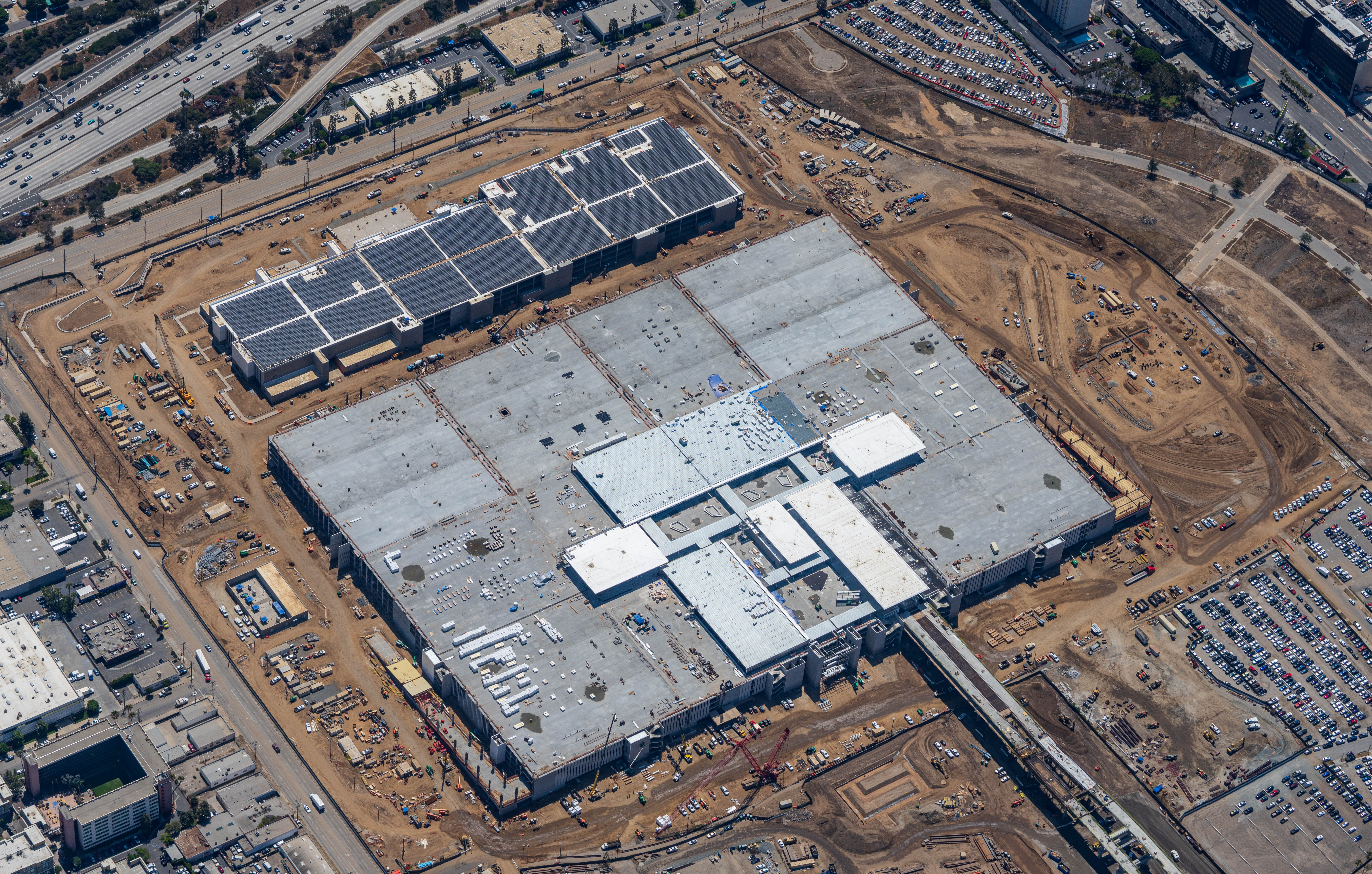 An aerial view of the Consolidated Rent-A-Car facility.